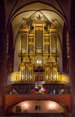 Organ in St Peter's Basilica, Dillingen, Germany
